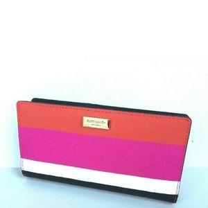 Kate Spade Laurel Way Bonita Stripe Leather Wallet